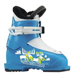 Salomon T1 Kids Ski Boots 2018, Blue-White, 256