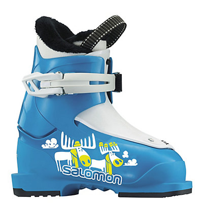 Salomon T1 Kids Ski Boots 2017, Blue-White, viewer