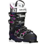 Salomon X Pro 80 Womens Ski Boots, Blue Transparent-Black-Pink, medium