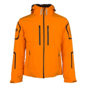 Descente Bullet Mens Insulated Ski Jacket, Spark Orange-Black-Black, medium