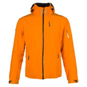 Descente Swiss WC Mens Insulated Ski Jacket, Spark Orange-Black, medium