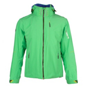 Descente Swiss WC Mens Insulated Ski Jacket, Container Green-Helmet Yellow, medium
