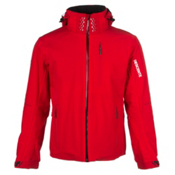 Descente Swiss WC Mens Insulated Ski Jacket, Electric Red-Black, medium