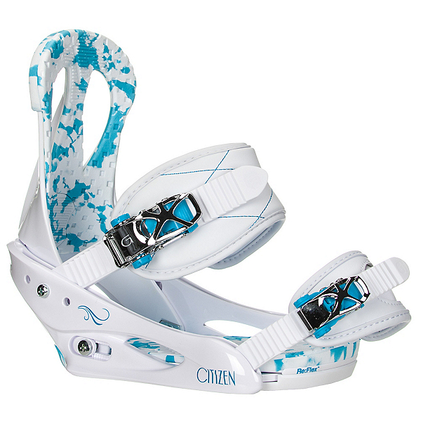Burton Citizen Womens Snowboard Bindings 2017, White-Blue, 600