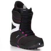 Burton Coco Womens Snowboard Boots 2017, Black-Purple, medium