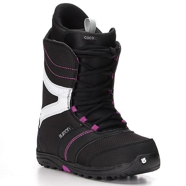 Burton Coco Womens Snowboard Boots, Black-Purple, 600