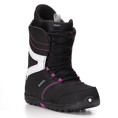 Burton Coco Womens Snowboard Boots 2017, Black-Purple, viewer