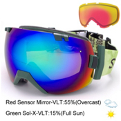 Smith I/OX Goggles 2016, Vagabond-Green Sol X Mirror + Bonus Lens, medium