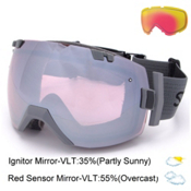 Smith I/OX Goggles 2016, Charcoal-Ignitor Mirror + Bonus Lens, medium