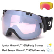 Smith I/OX Goggles 2016, Black-Ignitor Mirror + Bonus Lens, medium