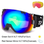 Smith I/OX Goggles, Black-Green Sol X Mirror + Bonus Lens, medium