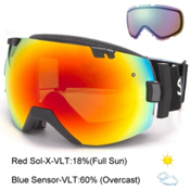 Smith I/OX Goggles, Black-Red Sol X Mirror + Bonus Lens, medium