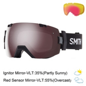 Smith I/OX Goggles 2017, Black-Ignitor Mirror + Bonus Lens, medium