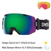 Smith I/OX Goggles 2017, Black-Green Sol X Mirror + Bonus Lens, medium