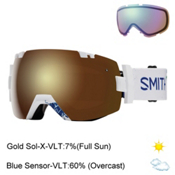 Smith I/OX Goggles 2017, Xavier Id-Gold Sol X Mirror + Bonus Lens, medium