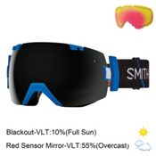 Smith I/OX Goggles 2017, Lapis Exposure-Blackout + Bonus Lens, medium