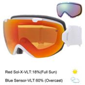 Smith I/OS Womens Goggles 2016, White Gbf-Red Sol X Mirror + Bonus Lens, medium
