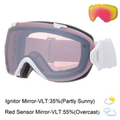 Smith I/OS Womens Goggles, White Gbf-Ignitor Mirror + Bonus Lens, medium