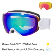 Smith I/OS Womens Goggles 2016, White Gbf-Green Sol X Mirror + Bonus Lens, medium