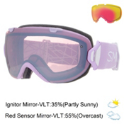 Smith I/OS Womens Goggles 2016, Blush-Ignitor Mirror + Bonus Lens, medium