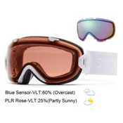Smith I/OS Womens Goggles 2016, White GBF-Polarized Rose Copper + Blue Sensor, medium