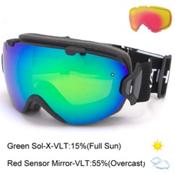 Smith I/OS Womens Goggles 2017, Black-Green Sol X Mirror + Bonus Lens, medium