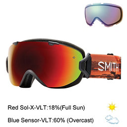 Smith I/OS Womens Goggles 2017, Elena Id-Red Sol X Mirror + Bonus Lens, 256