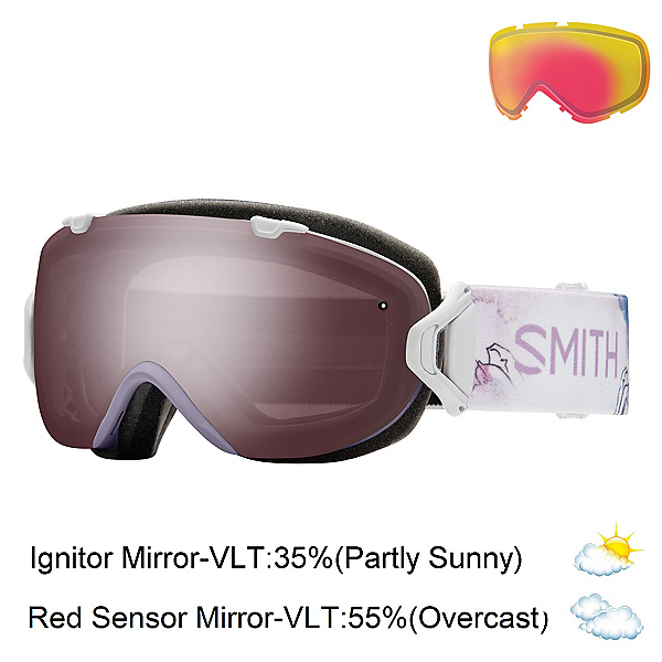 Smith I/OS Womens Goggles 2017, Lunar Bloom-Ignitor Mirror + Bonus Lens, 600