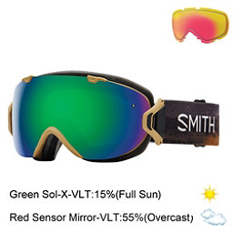 Smith I/OS Womens Goggles 2017, Prairie Buffalo-Green Sol X Mi + Bonus Lens, 256
