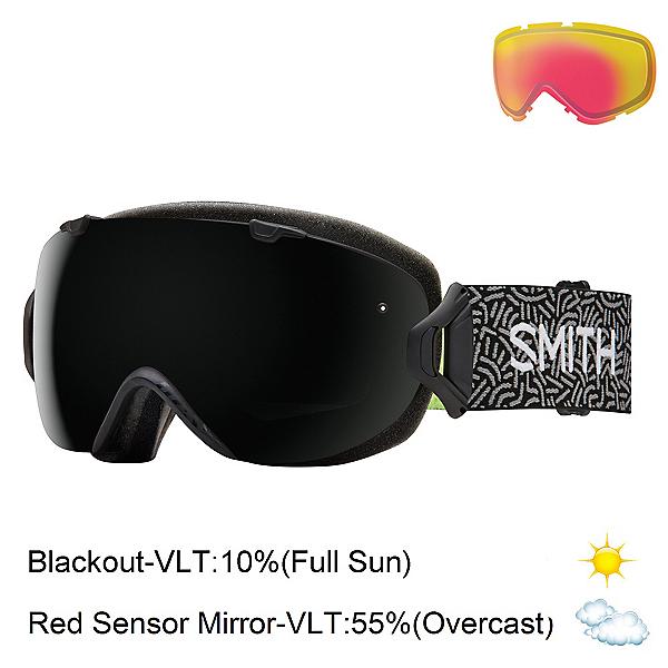 Smith I/OS Womens Goggles 2017, Black New Wave-Blackout + Bonus Lens, 600