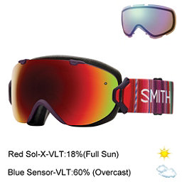 Smith I/OS Womens Goggles 2017, Black Cherry Cuzco-Red Sol X M + Bonus Lens, 256
