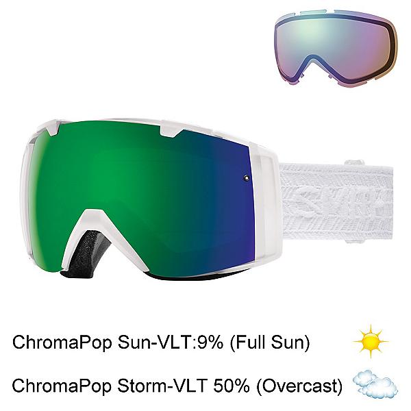 Smith I/OS Womens Goggles 2017, White Eclipse-Chromapop Sun + Bonus Lens, 600