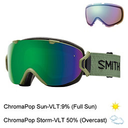 Smith I/OS Womens Goggles 2017, Olive-Chromapop Sun + Bonus Lens, 256