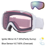 Smith I/O Womens Goggles, White Gbf-Ignitor Mirror + Bonus Lens, medium
