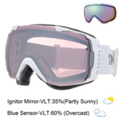 Smith I/O Goggles 2016, White-Ignitor Mirror + Bonus Lens, medium
