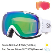 Smith I/O Goggles 2016, White-Green Sol X Mirror + Bonus Lens, medium