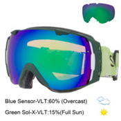 Smith I/O Goggles 2016, Vagabond-Green Sol X Mirror + Bonus Lens, medium