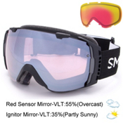 Smith I/O Goggles, Black-Ignitor Mirror + Bonus Lens, medium