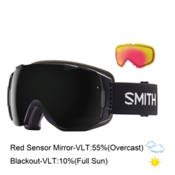 Smith I/O Goggles 2016, Black-Blackout + Red Sensor Mirror, medium