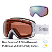 Smith I/O Goggles, White-Polarized Rose Copper + Blue Sensor, medium