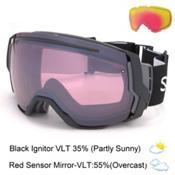 Smith I/O7 Goggles 2017, Black-Ignitor Mirror + Bonus Lens, medium