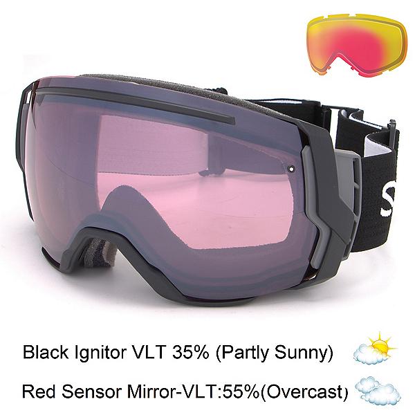 Smith I/O7 Goggles 2017, Black-Ignitor Mirror + Bonus Lens, 600