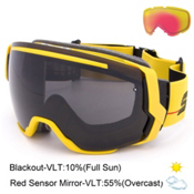 Smith I/O7 Goggles 2016, Yellow Archive 1989-Blackout + Bonus Lens, medium