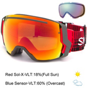 Smith I/O7 Goggles 2016, Woolrich Hunter-Red Sol X Mirr + Bonus Lens, medium