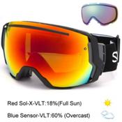 Smith I/O7 Goggles 2017, Black-Red Sol X Mirror + Bonus Lens, medium