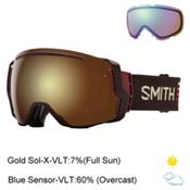 Smith I/O7 Goggles 2017, Morel Sunset-Gold Sol X Mirror + Bonus Lens, medium