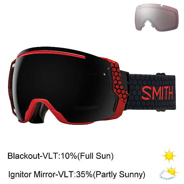 Smith I/O7 Goggles, Sage Id-Blackout + Bonus Lens, 600