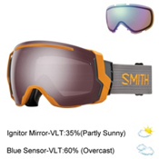 Smith I/O7 Goggles, Solar-Ignitor Mirror + Bonus Lens, medium