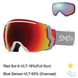 Smith I/O7 Goggles 2017, Bobby Id-Red Sol X Mirror + Bonus Lens, 256