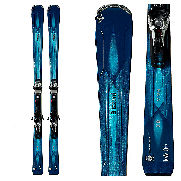 Blizzard Viva X8 Womens Skis with IQ-TCX 12 Bindings, , 600